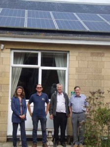PV panels installed at Bridges Community Centre