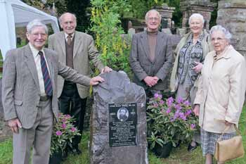 Ceremony to unveil a memorial to Alfred Russell Wallace, Victorian naturalist who with Charles Darwin proposed the theory of evolution