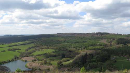 View of Wentwood Forest with Wentwood reservoir in the foreground